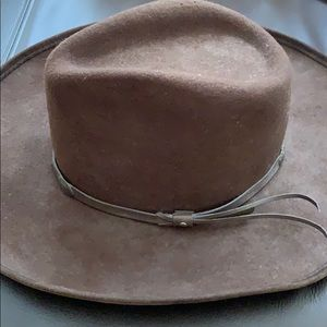 Accessories - Brown Cowboy Hat w/ leather Trim
